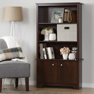South Shore Vito 3-Shelf Bookcase with Doors (Cherry Finish - Sumptuous Cherry)