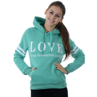 Special One Women's Fleece Double Hood Sweatshirt Embossed with Rhinestones and Drawstrings