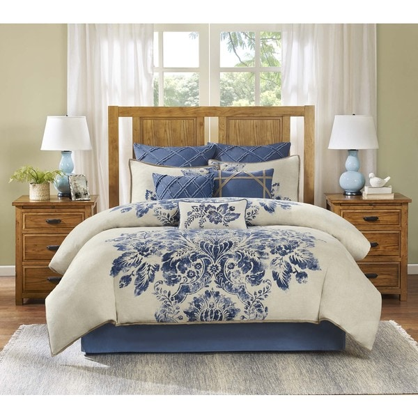 Harbor House St. Tropez Printed Cotton Enzyme Washed Duvet Cover