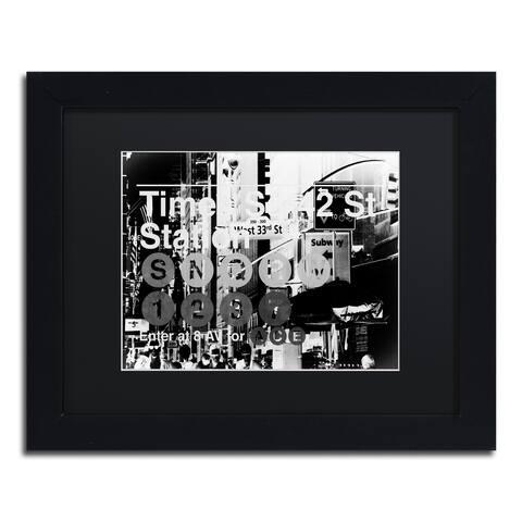 Philippe Hugonnard 'Subway City Art NYC II' Matted Framed Art - Multi
