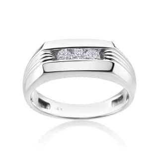 Andrew Charles 14k White Gold Men's 1/4ct TDW Diamond Ring|https://ak1.ostkcdn.com/images/products/11589703/P18529703.jpg?impolicy=medium