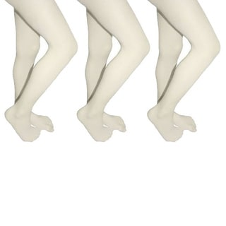 Butterfly Girls Microfiber School Tights Uniform Hosiery Footed Stockings (3-pack)