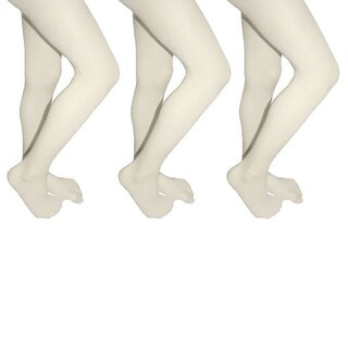 Butterfly Girls Microfiber School Tights Uniform Hosiery Footed Stockings (3-pack)