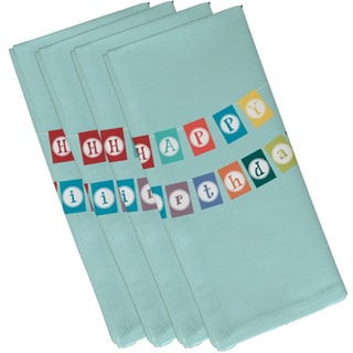 19-inch x 19-inch Happy Birthday Word Print Napkin