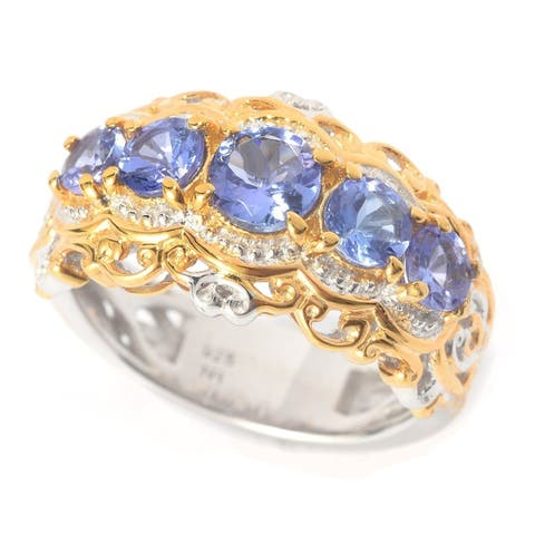 Michael Valitutti Tanzanite Five Stone Ring