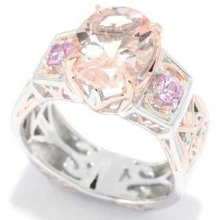 Michael Valitutti Morganite and Pink Sapphire Ring|https://ak1.ostkcdn.com/images/products/11589773/P18529741.jpg?impolicy=medium