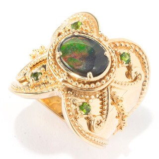 Michael Valitutti Ammolite and Chrome Diopside Ring