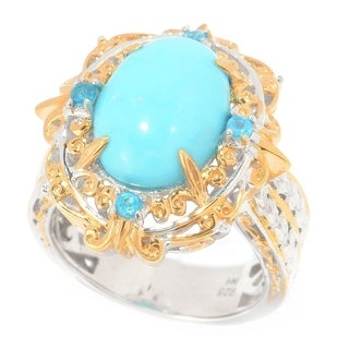 Michael Valitutti Princess Turquoise and Neon Apatite Ring