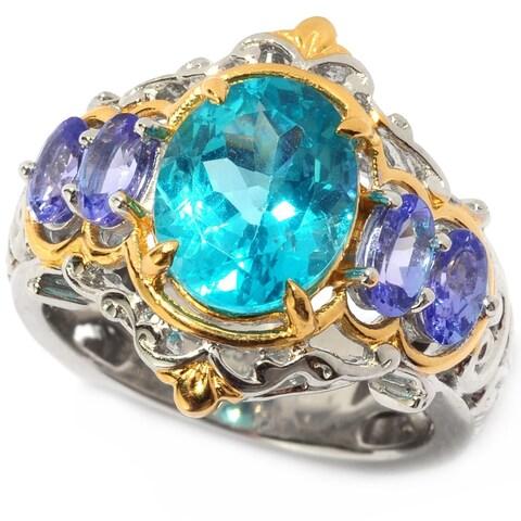 Michael Valitutti Apatite and Tanzanite Ring