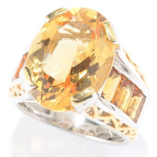 Michael Valitutti Citrine and Madeira Citrine Ring