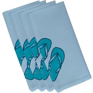 19-inch x 19 inch Flip Flops Geometric Print Napkin