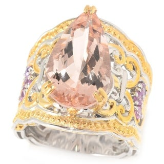 Michael Valitutti Morganite and Light Pink Sapphire Ring