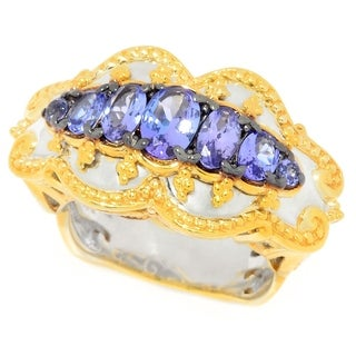 Michael Valitutti Tanzanite Etruscan Band Ring