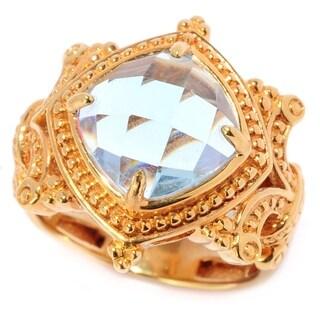 Michael Valitutti Rose Cut Sky Blue Topaz Ring