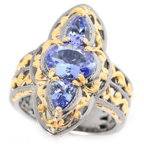 Michael Valitutti Tanzanite Elongated Ring