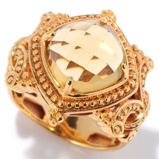 Michael Valitutti Rose Cut Golden Citrine Ring