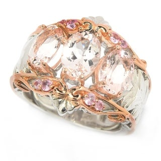 Michael Valitutti Madagascar Pink Morganite and Light Pink Sapphire Ring
