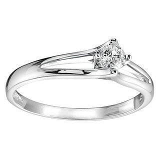 10k Gold 1/10ct TDW Diamond Solitaire Ring (G-H, SI1-SI2)