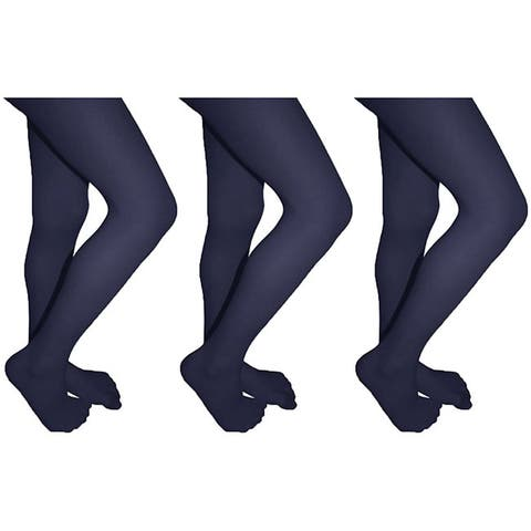 2f50b5ed37f Butterfly Girls Lycra Opaque Tights (3-pack)