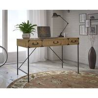 kathy ireland Office Ironworks Vintage Golden Pine 48W Writing Desk