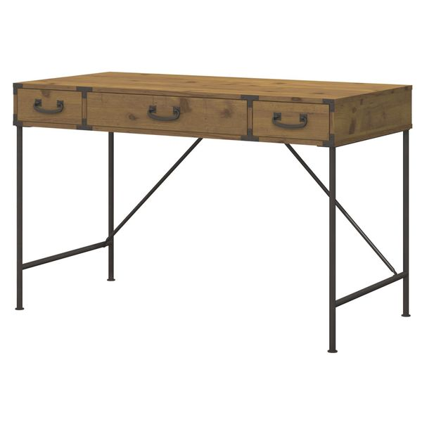 Kathy Ireland Office Ironworks Vintage Golden Pine 48W Writing Desk   Free  Shipping Today   Overstock.com   18529803