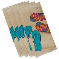19-inch x 19 inch Beach Shoes Geometric Print Napkin