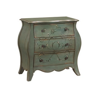 Aged Green French Base Bombay Chest