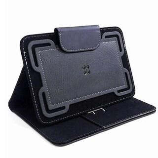 PureGear Universal Tablet Folio Wallet Case for Samsung Apple LG 7-8 Tablet - Black