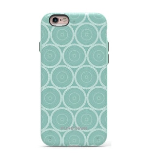 PureGear Slim Shell Motif Series Case for Apple iPhone 6/6S (4.7)-MINT CIRCLES