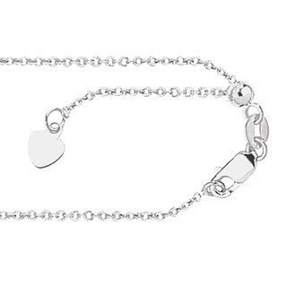 14k White Gold Cable Chain Necklace with Lobster Clasp