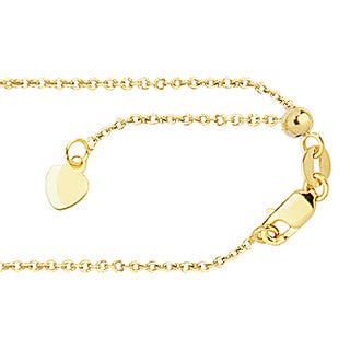 14k Yellow Gold Cable Chain Necklace with Lobster Clasp