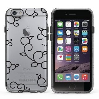 PureGear Slim Shell Series Carry Case for Apple iPhone 6/6s Plus CLEAR BLACK LACE