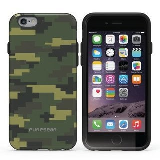 PureGear Slim Shell Series Carry Case for Apple iPhone 6/6s Plus GREEN CAMOUFLAGE