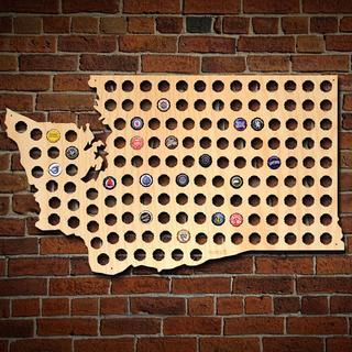 Giant XL Washington Beer Cap Map
