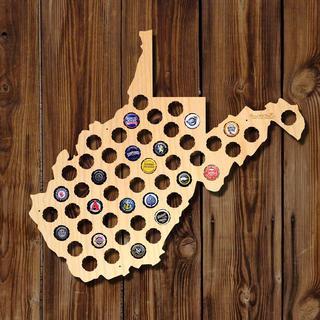 West Virginia Beer Cap Map