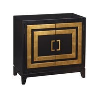 Gold and Black Modern Door Chest