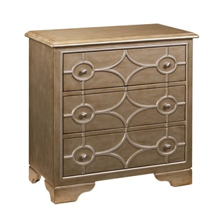 Gleaming Gold Diamond Overlay Drawer Chest