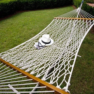 Castaway Single Cotton Rope Hammock