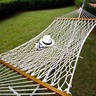 Castaway Single Cotton Rope Hammock