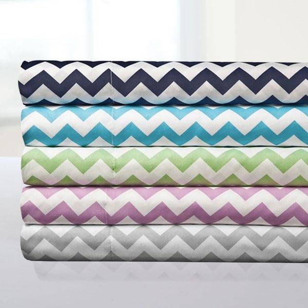 Incredibly Soft 4-Piece Chevron Sheet Set