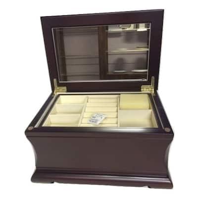 Heim Concept Wood jewelry box, Soya- Anti-Tarnish Felt