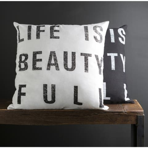 Carbon Loft Morrison 22-inch Print Throw Pillow Cover