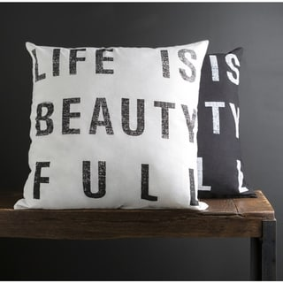 Decorative Somerset 18-inch Print Pillow Cover