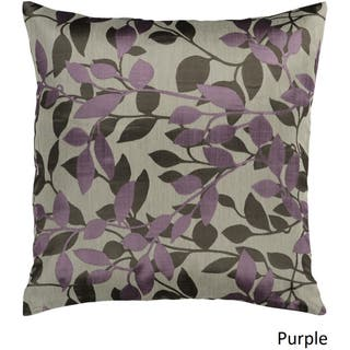 Decorative Skegness 18 Inch Leaves Pillow Cover Option Purple