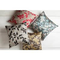 Decorative Skegness 18-inch Leaves Throw Pillow Cover