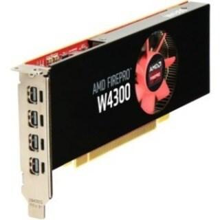HP FirePro W4300 Graphic Card - 4 GB GDDR5 - Low-profile - Single Slo