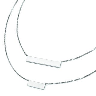 Versil Sterling Silver Double Bar Necklace