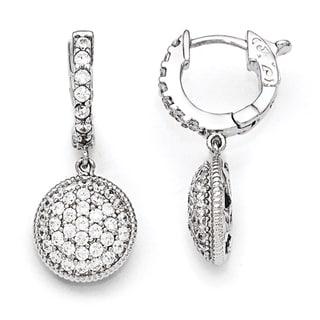 Versil Sterling Silver Cubic Zirconia Hoop Earrings