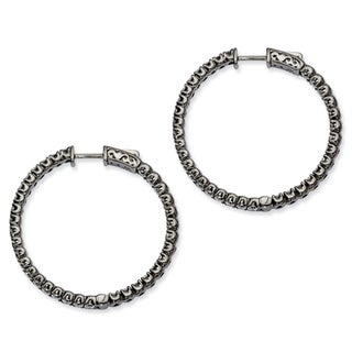 Versil Sterling Silver Cubic Zirconia Earrings
