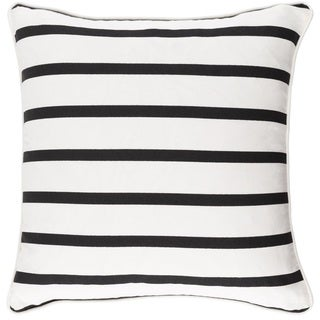 Decorative 18-inch Easy Throw Pillow Shell (Options: White, Black)